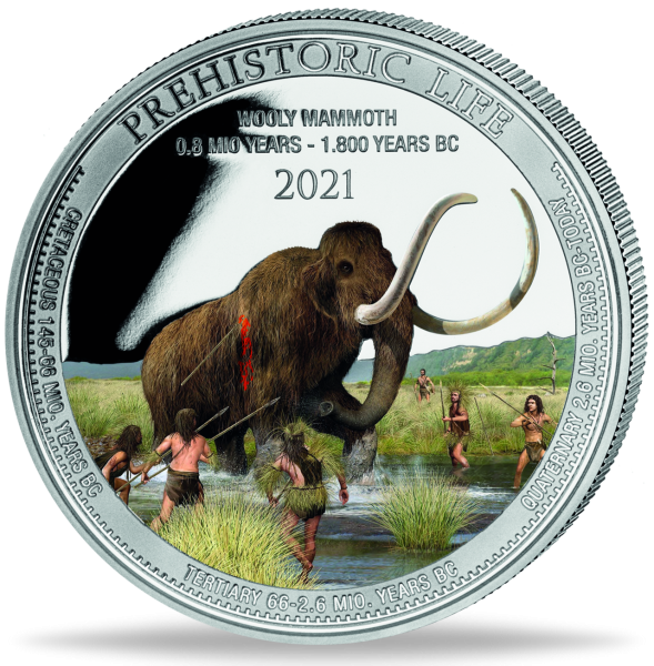 20 Francs Wooly_Mammoth_Vorderseite
